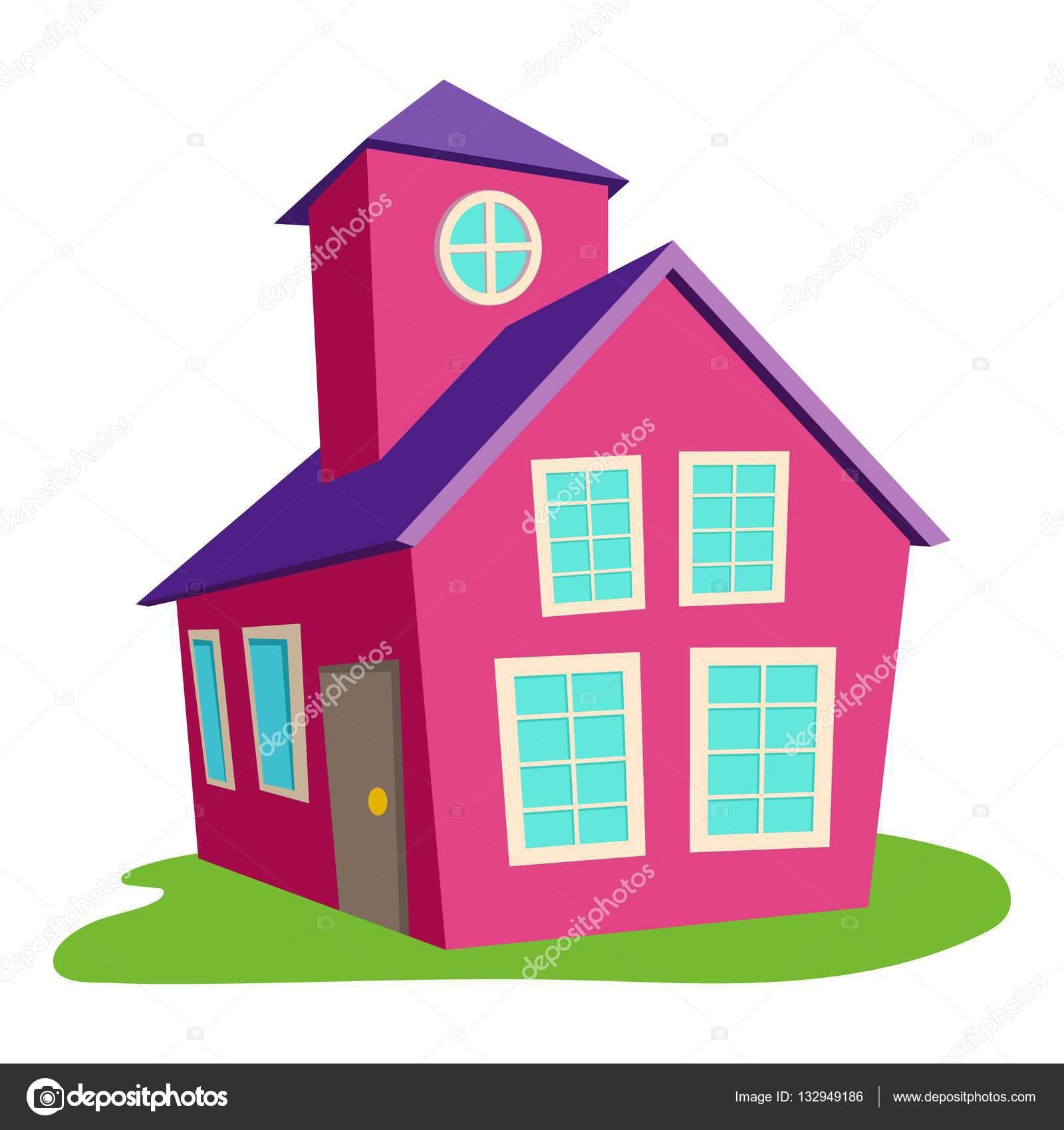 Dibujos Casas A Color Icono De Casa Color Estilo De Dibujos