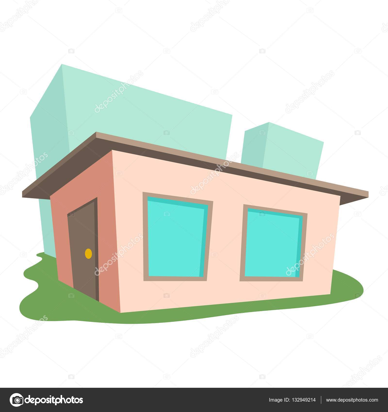 Kleines Haus, Symbol, Cartoon-Stil — Stockvektor © ylivdesign #132949214