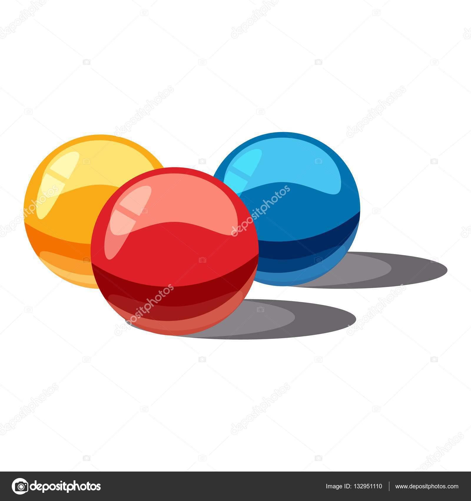 Bolas Para Paintball Icono De Estilo De Dibujos Animados Archivo