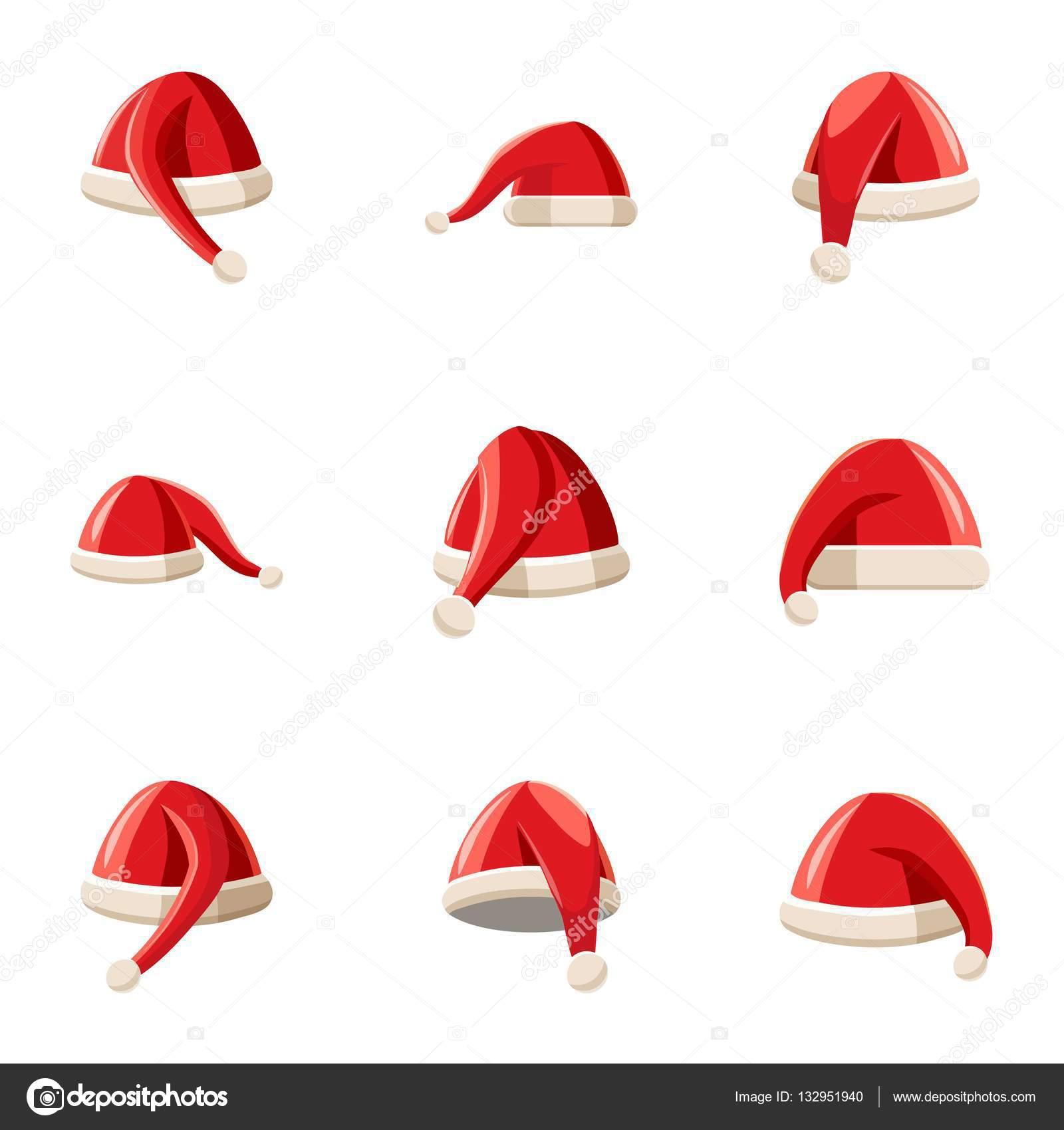 Wizard Santa Claus hat icons set. Cartoon illustration of 9 wizard Santa  Claus hat vector icons for web — Vector by ... 1c11b8a04317
