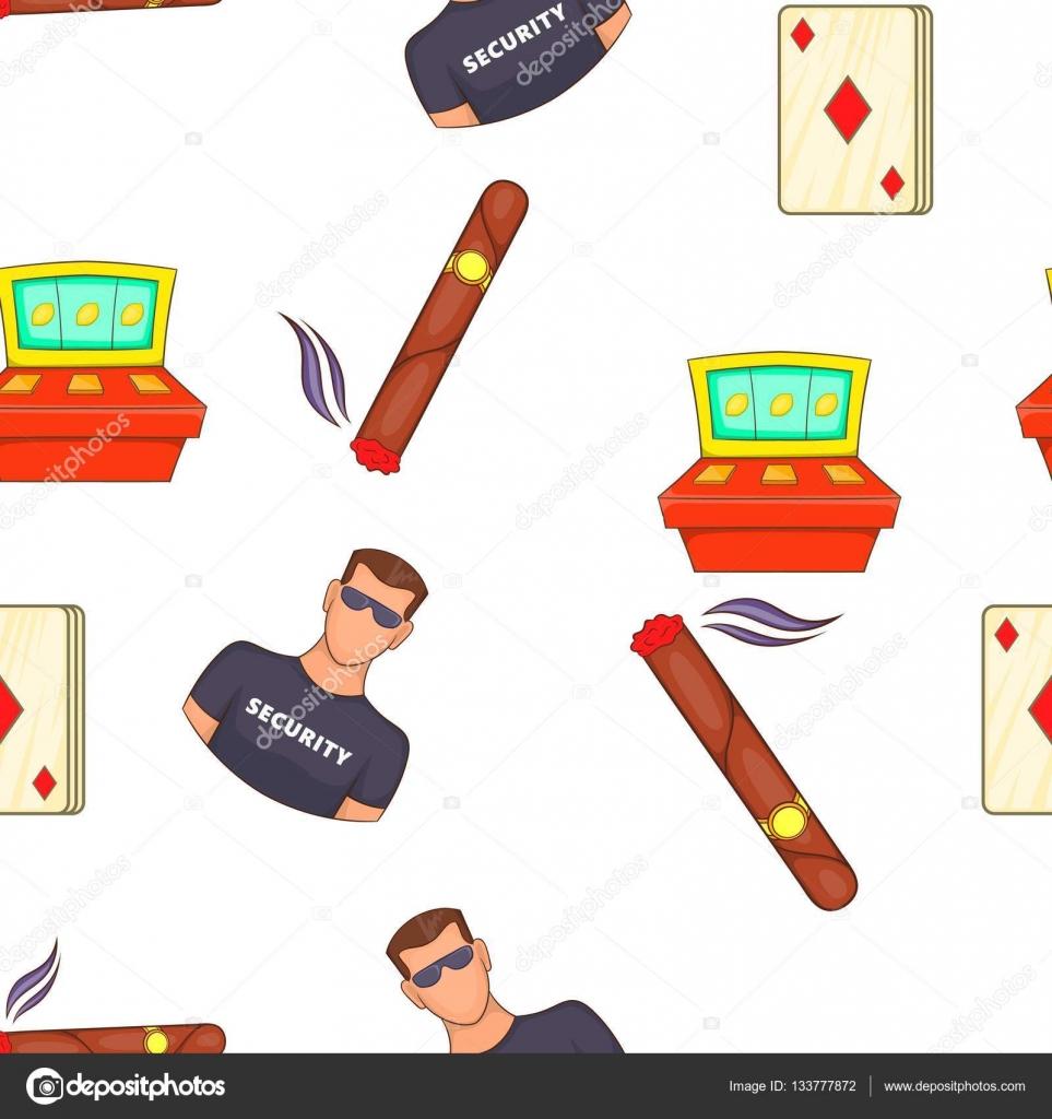 Patrón de Casino y juegos de azar, estilo de dibujos animados ...