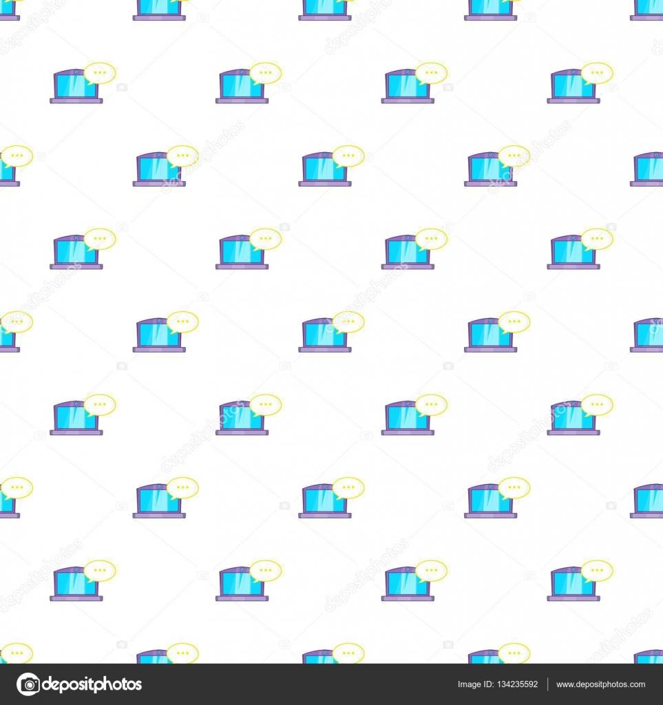 laptop mit leere rede blase muster cartoon illustration der laptop mit leere rede blase vektormuster fr web vektor von ylivdesign - Hochzeitsrede Muster