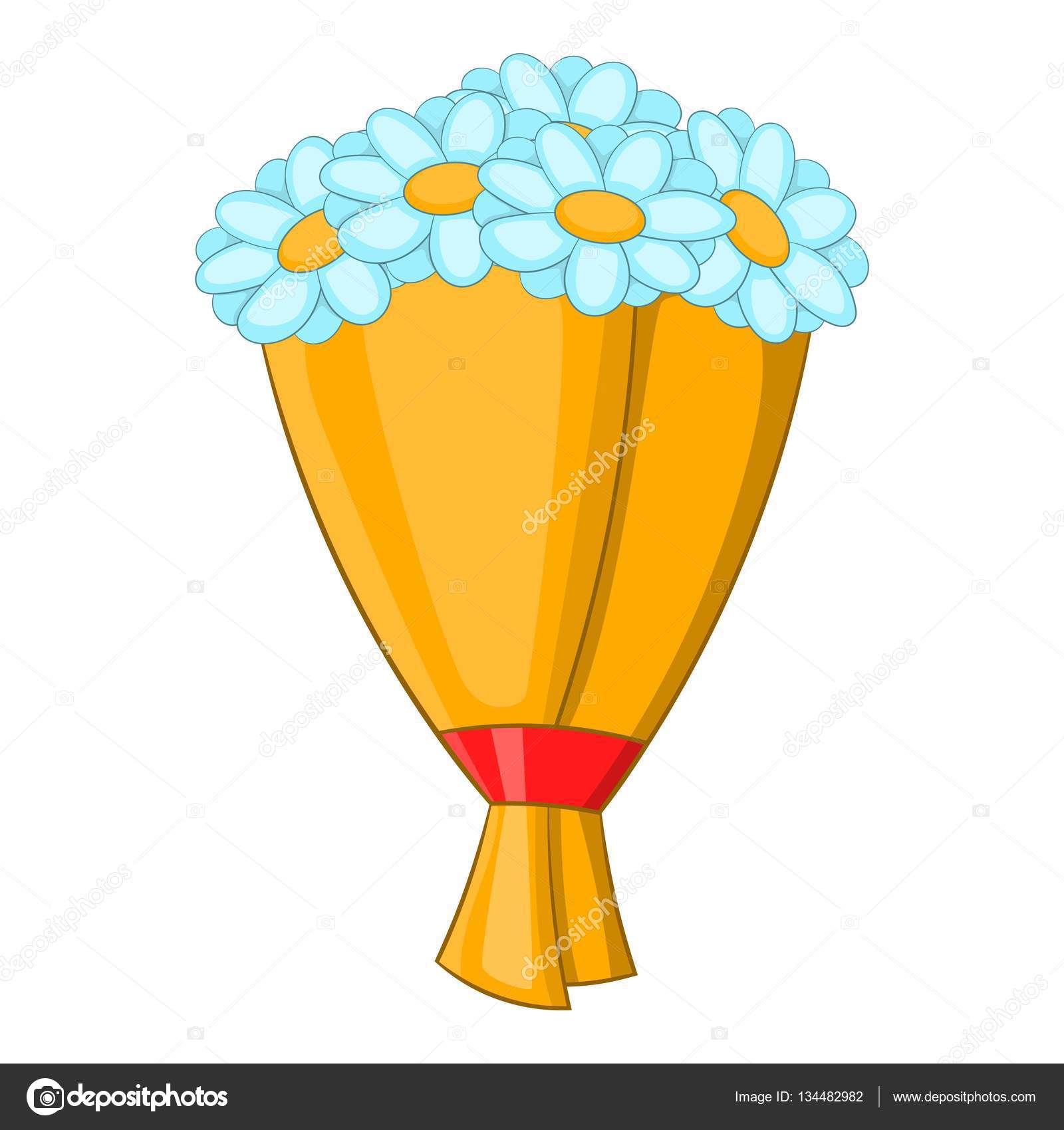 Bouquet Of Flowers Icon Cartoon Style Stock Vector Ylivdesign