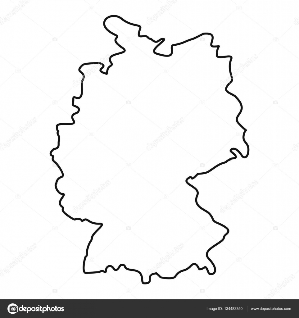Map Of Germany Outline.Germany Map Icon Outline Style Stock Vector C Ylivdesign 134483350