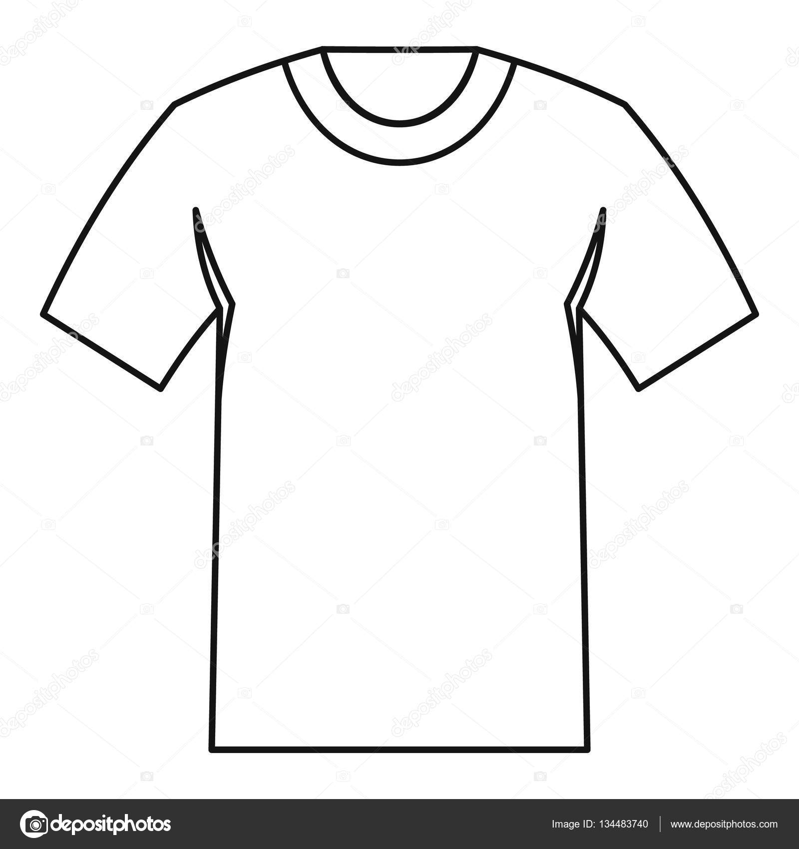 tshirt icon outline style stock vector c ylivdesign 134483740 https depositphotos com 134483740 stock illustration tshirt icon outline style html