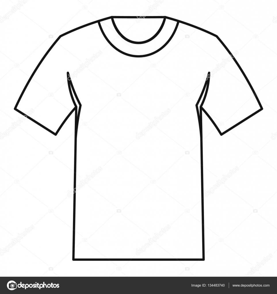 tshirt icon outline style stock vector c ylivdesign 134483740 https depositphotos com 134483740 stock illustration tshirt icon outline style html