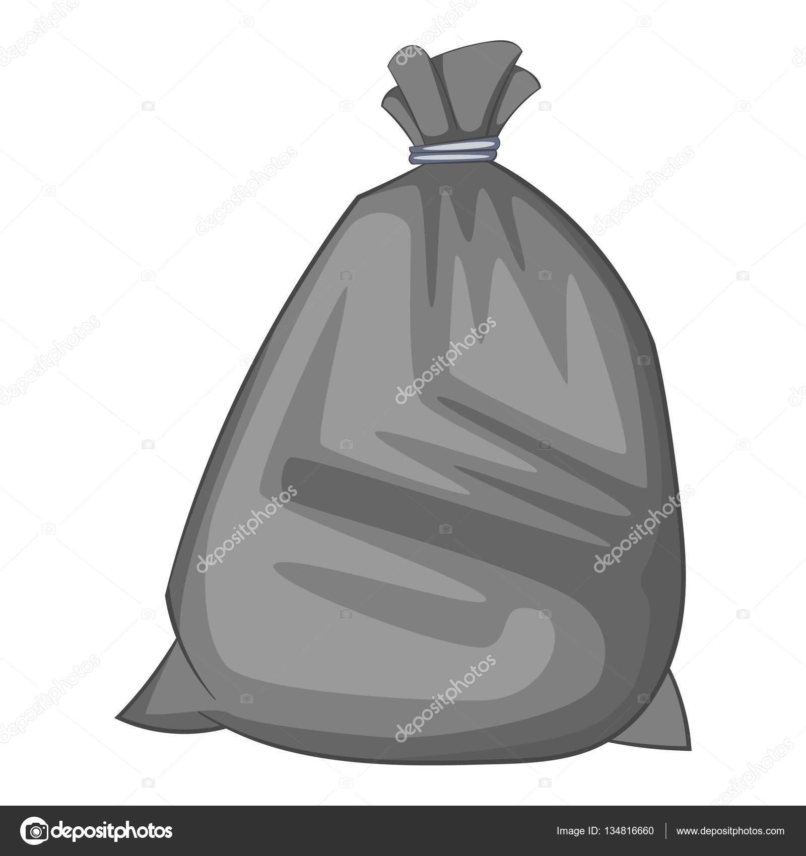 Dibujos Bolsas De Plastico Icono De Bolsa De Basura Estilo De