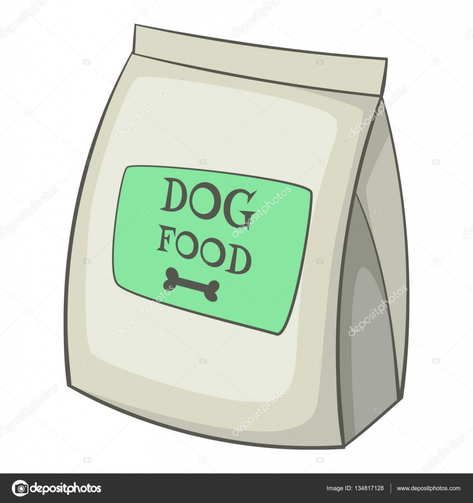 Dog food bag icon, cartoon style — Stock Vector ...
