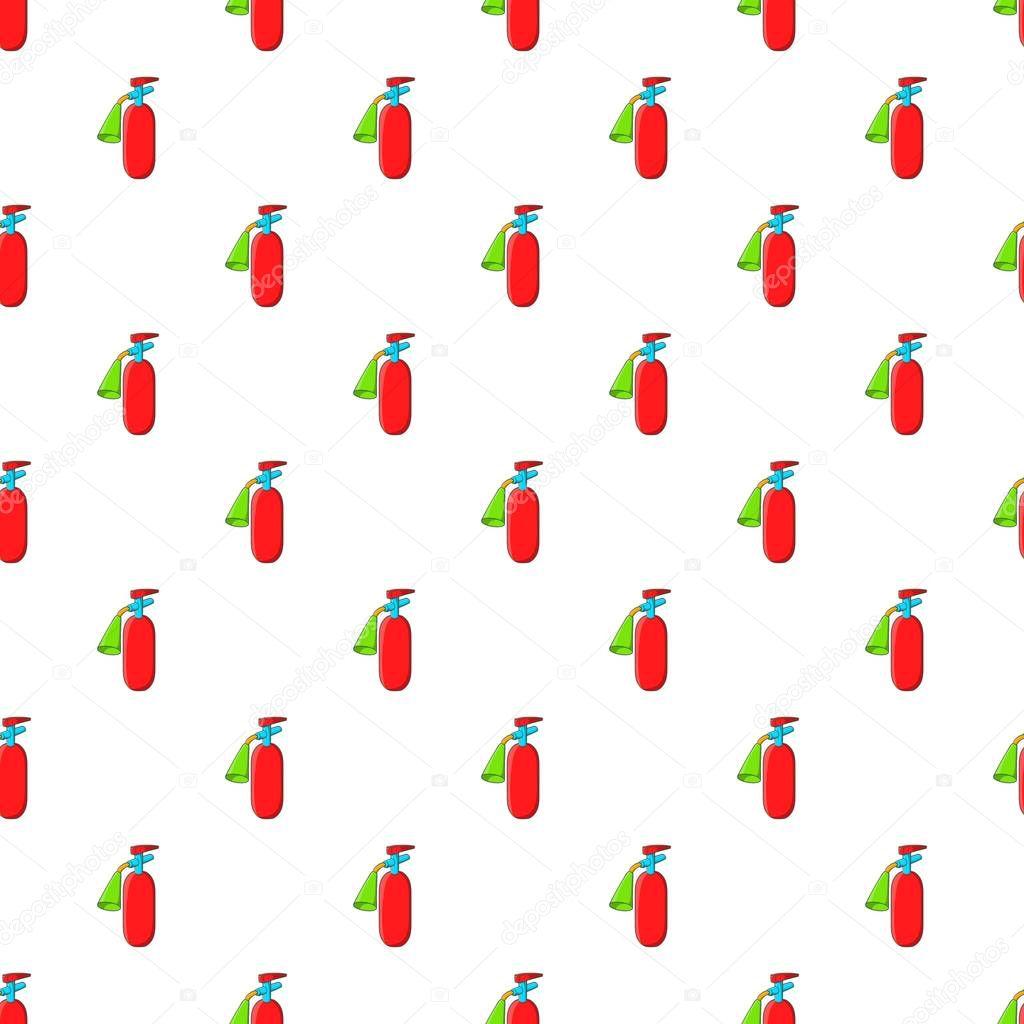 Fire extinguisher pattern, cartoon style