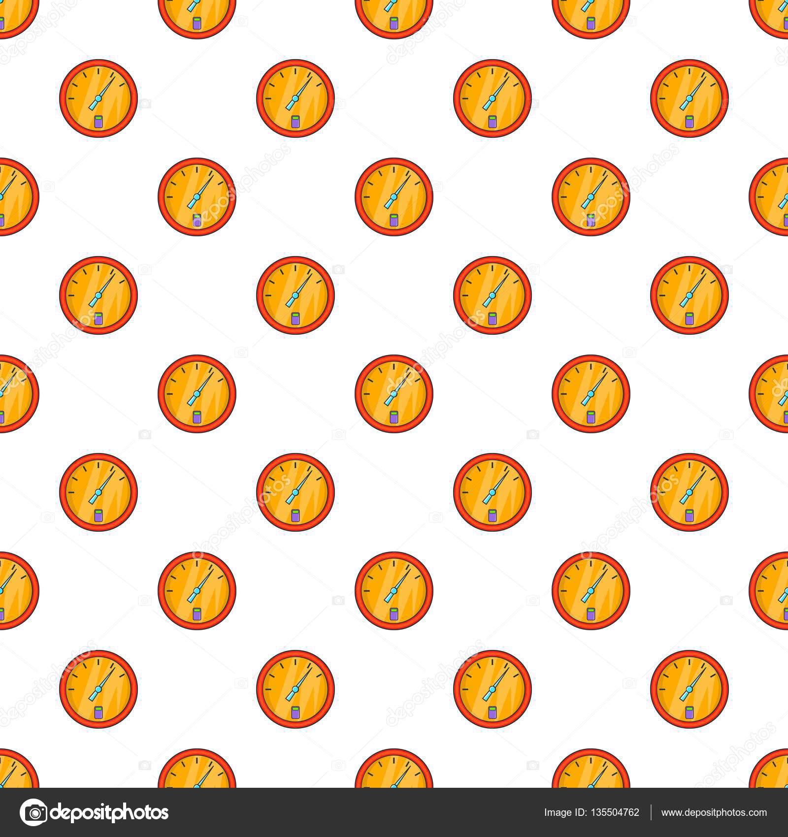 Fuel gauge pattern, cartoon style — Stock Vector