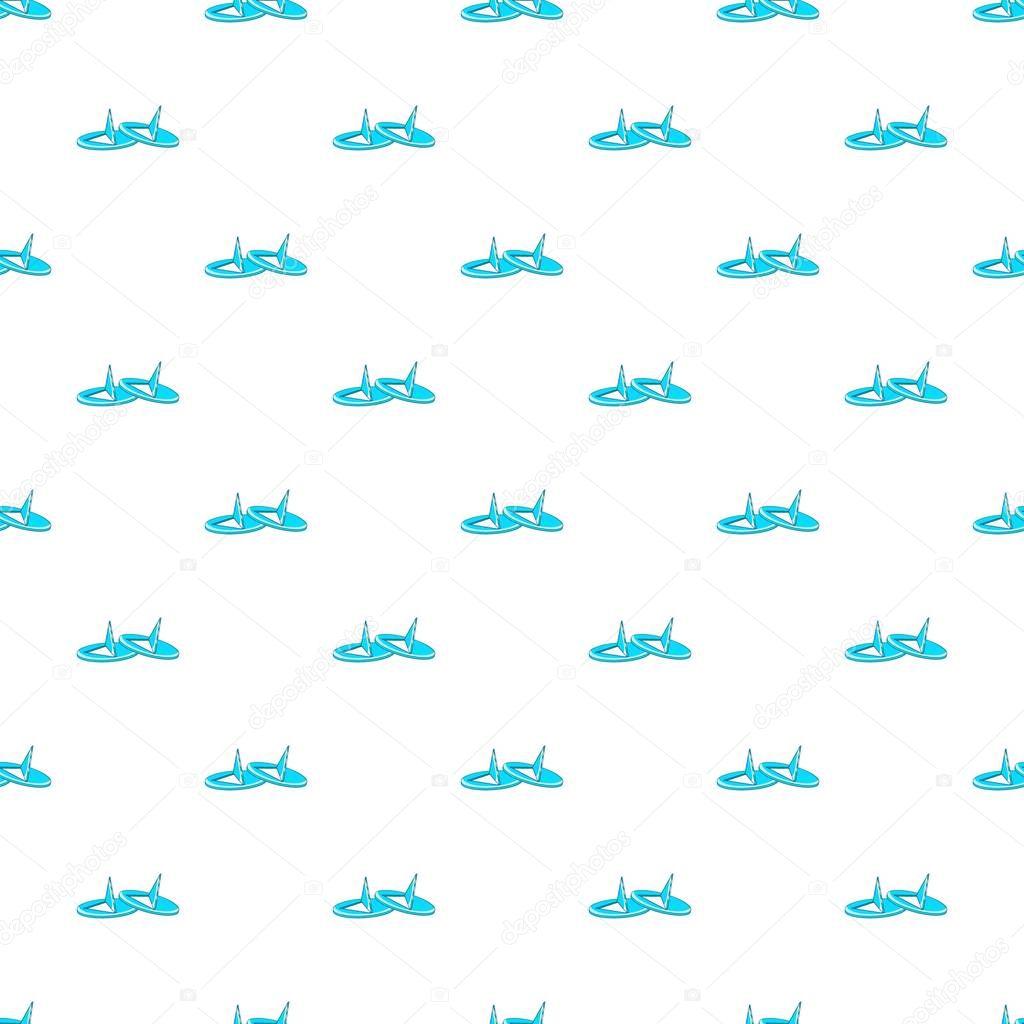 Pushpins pattern, cartoon style