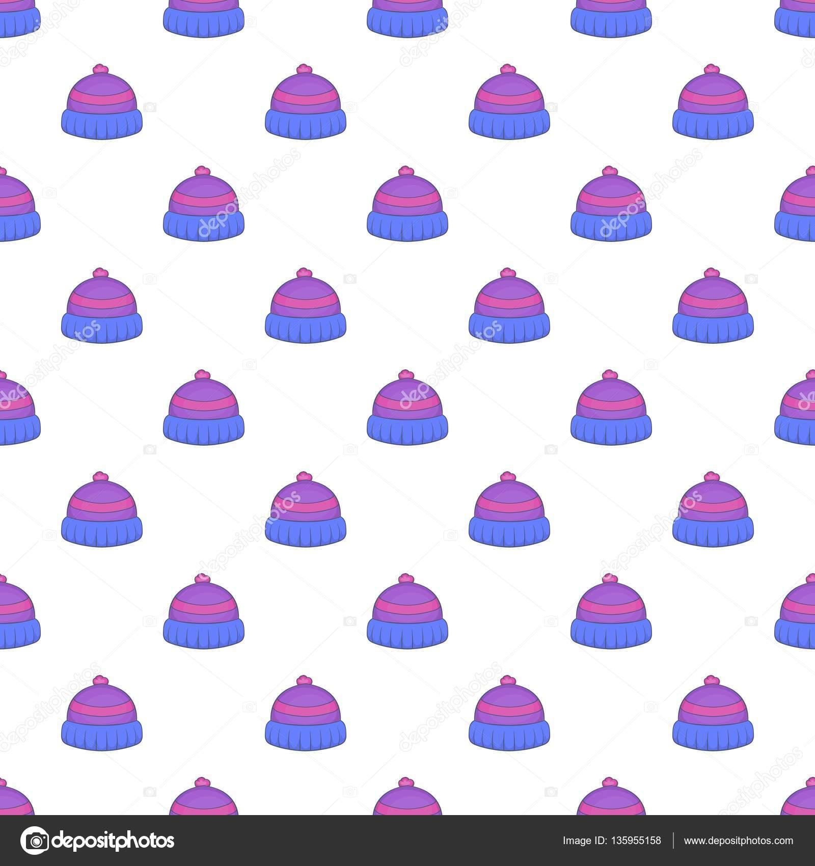 Patrón del sombrero hecho punto, estilo de dibujos animados ...