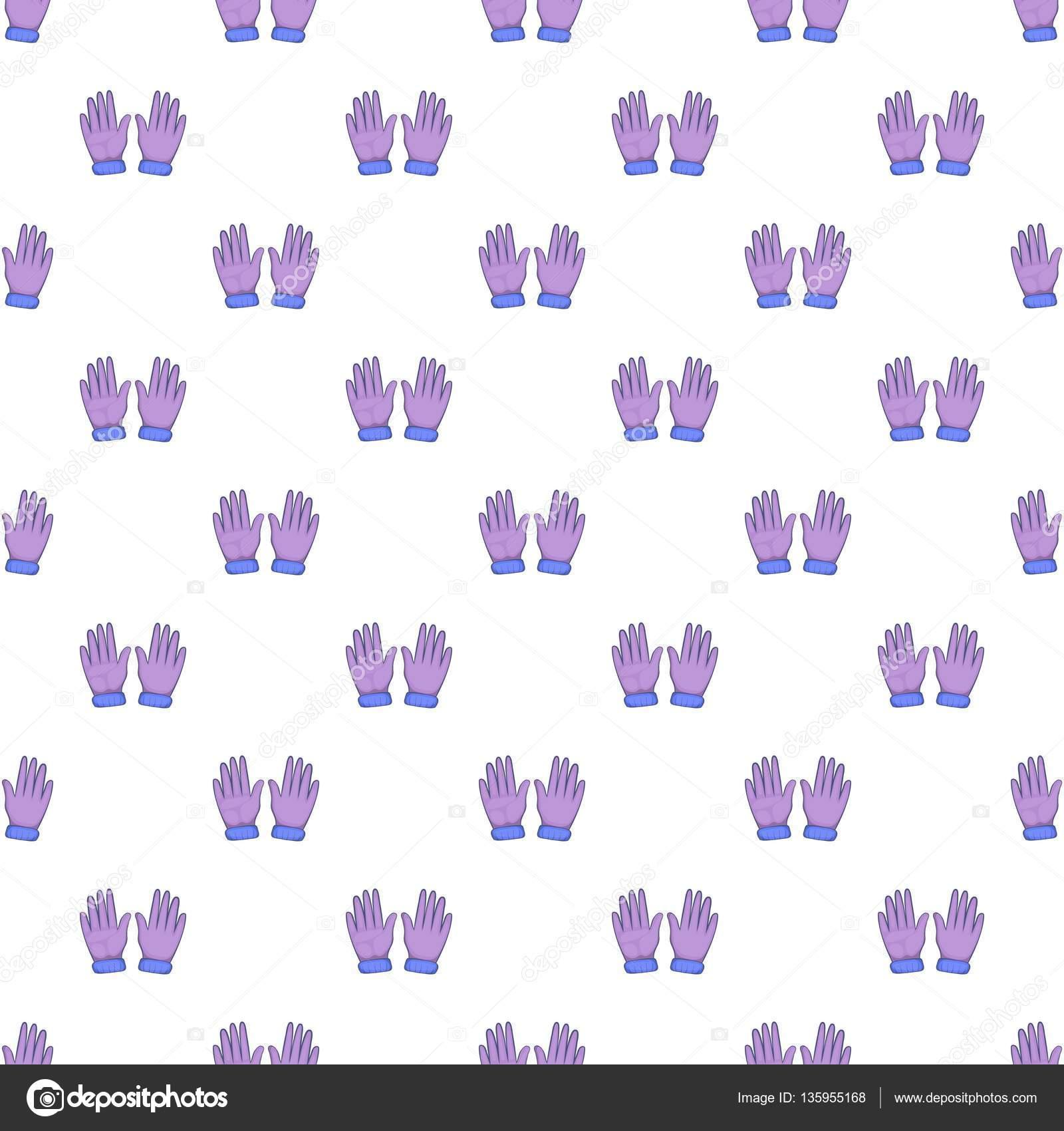 Patrón de guantes de invierno, estilo de dibujos animados — Vector ...