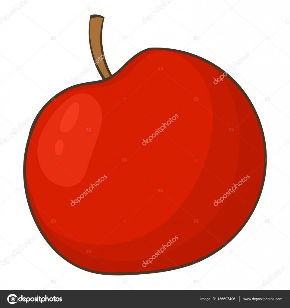 Elma simgesi, karikatür tarzı — Stok Vektör © ylivdesign #136697406