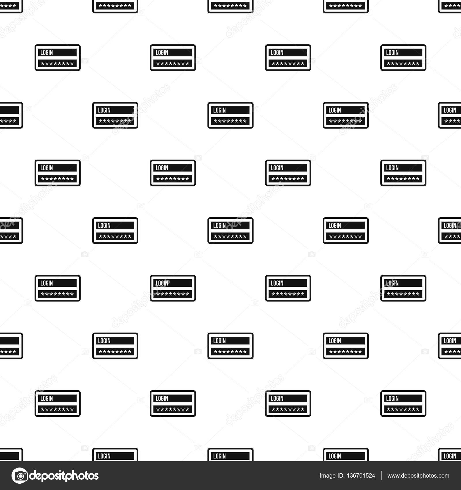 benutzername und passwort muster einfachen stil stockvektor - Muster Passwort