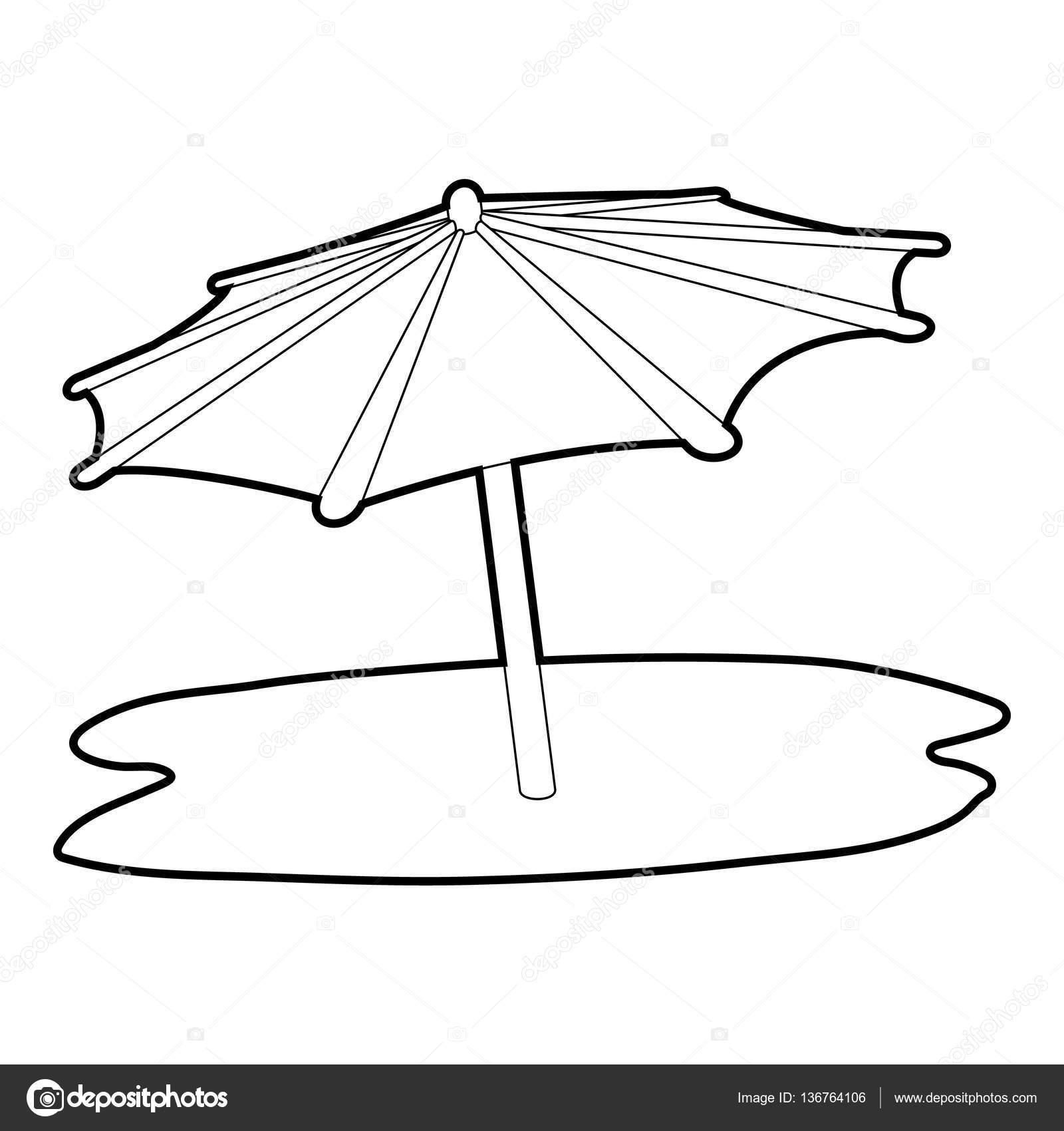 Icono de paraguas de playa, isométrica estilo 3d — Archivo Imágenes ...