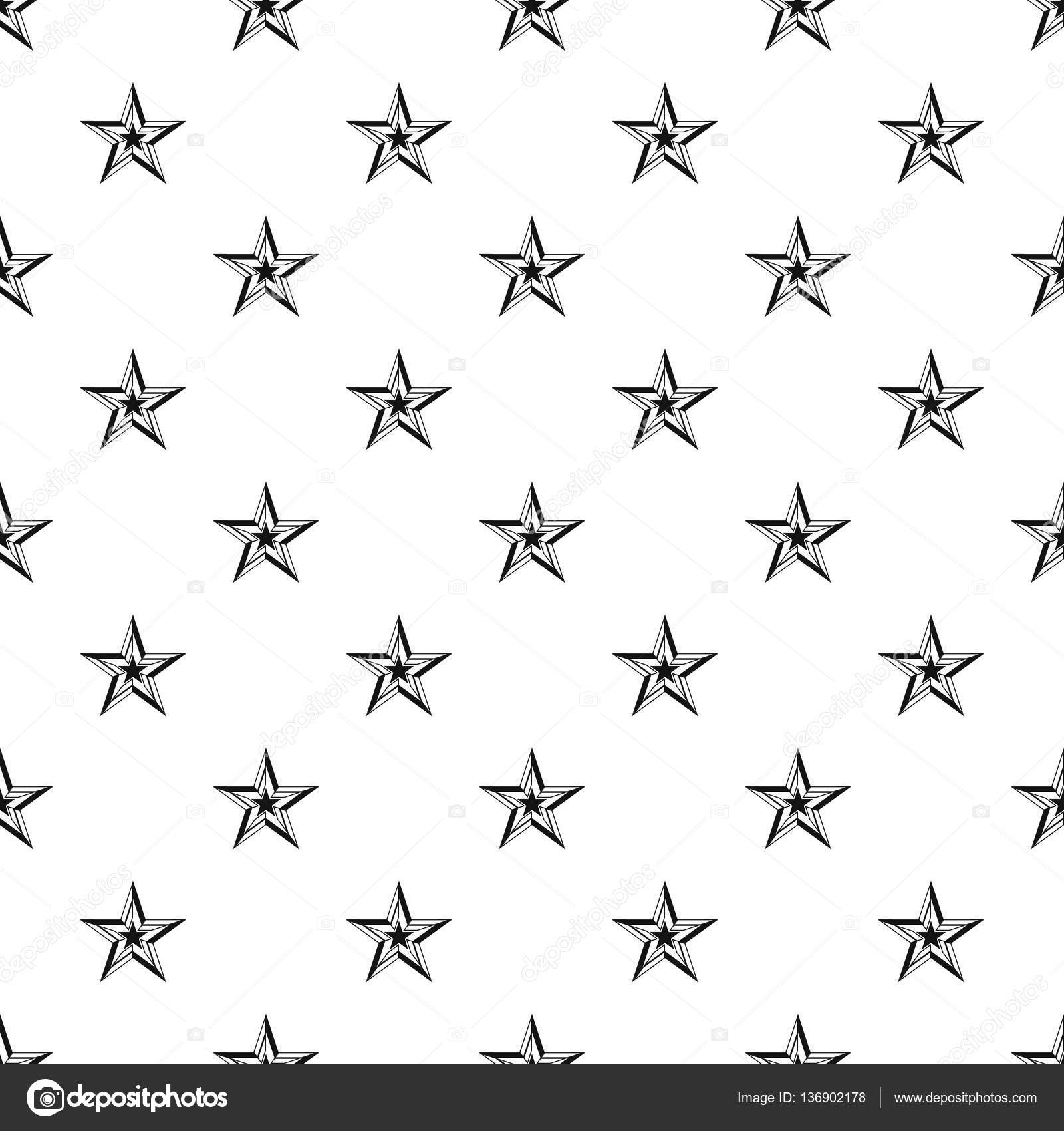 Five Pointed Star Pattern Simple Style Stock Vector