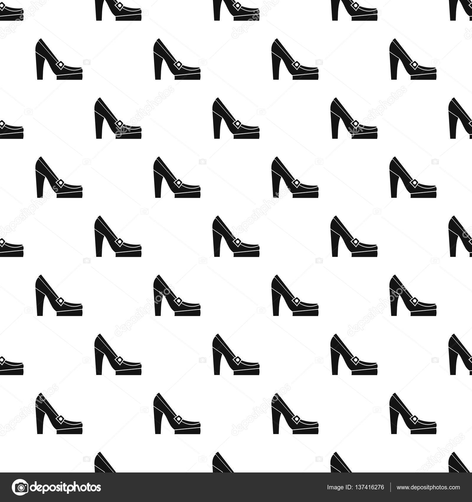 Stock Estilo Simple Vector Tacón Zapatos De Mujer — Patrón xqBHg8w