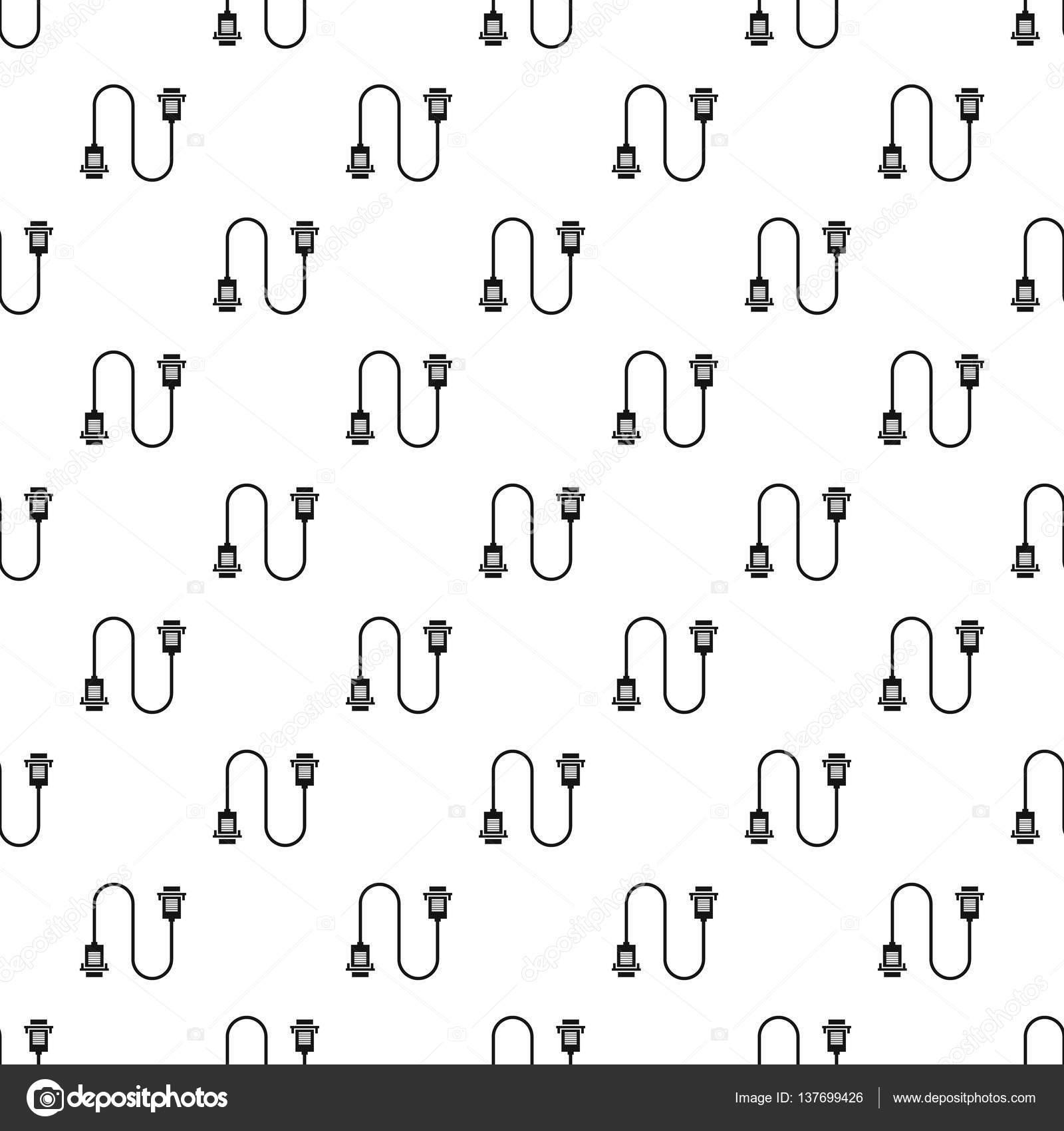 USB-Draht Muster, einfachen Stil — Stockvektor © ylivdesign #137699426