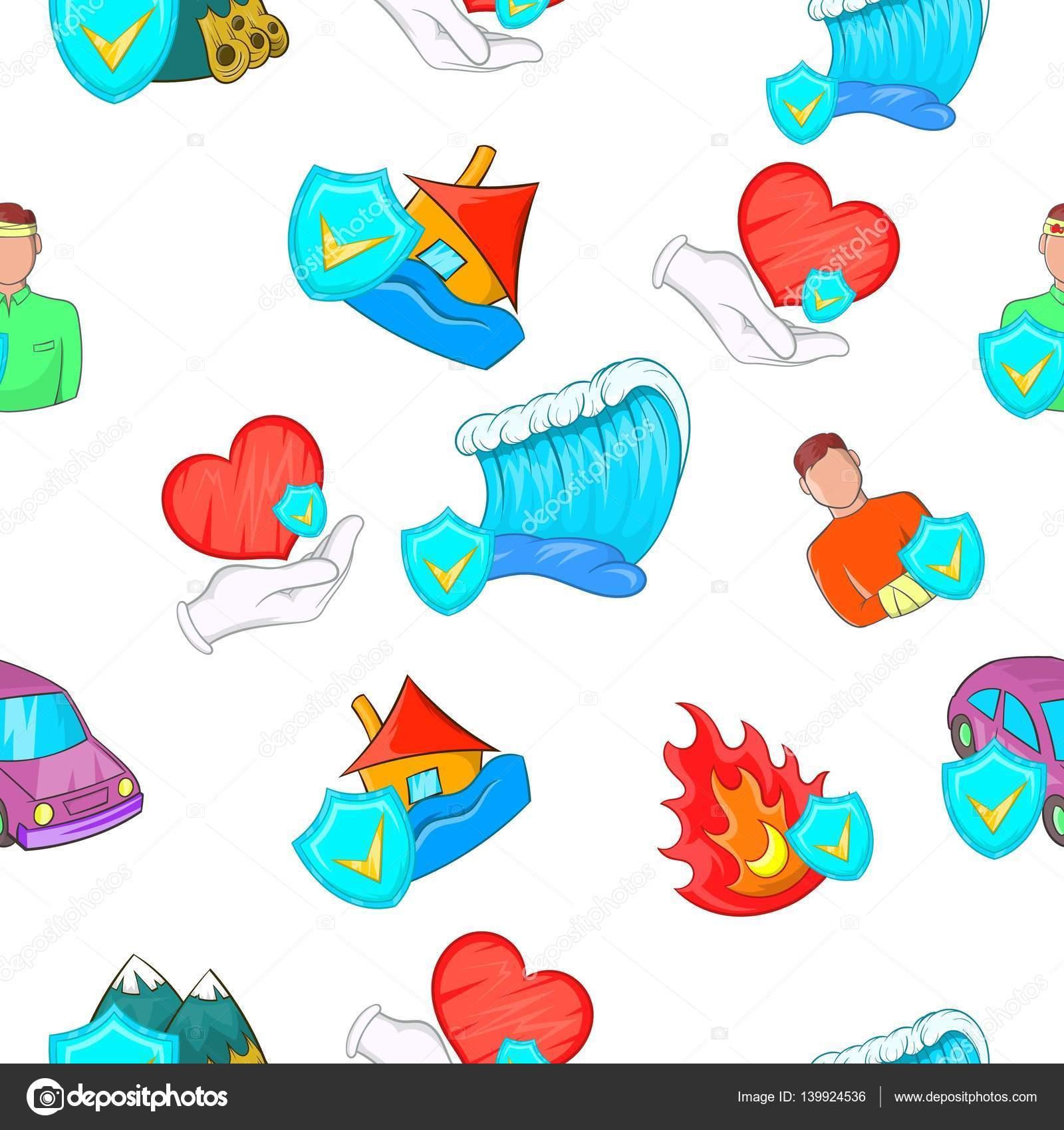 Patrón de incidentes, estilo de dibujos animados — Archivo Imágenes ...