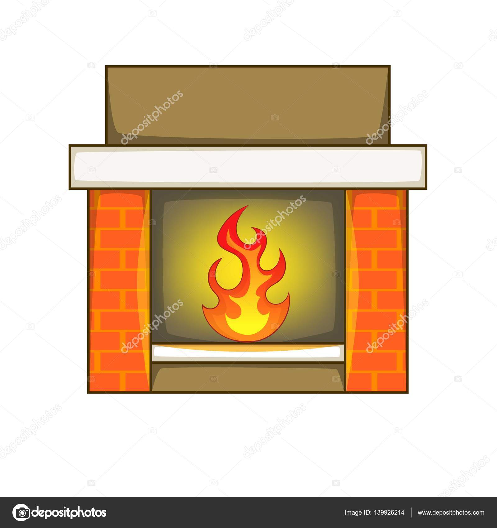 icono de la chimenea estilo de dibujos animados u2014 vector de stock