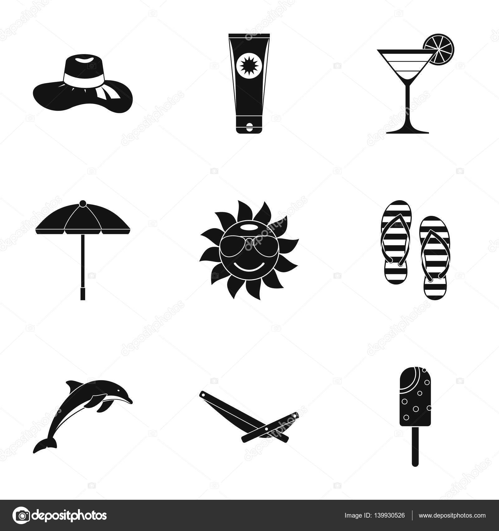 Journey to sea icons set simple style stock vector ylivdesign journey to sea icons set simple style stock vector biocorpaavc Choice Image
