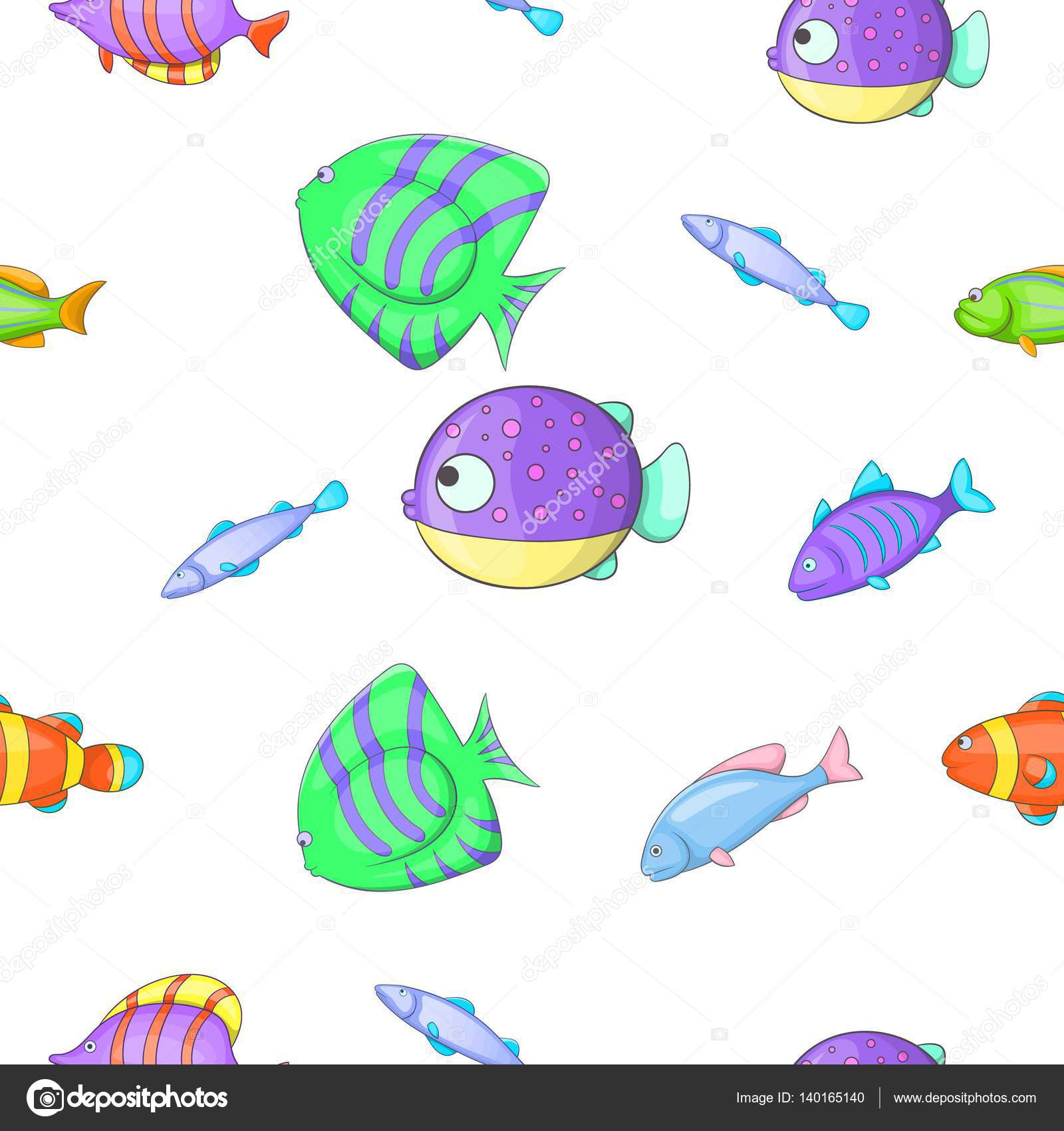 Carnes Y Pescados Para Imprimir Patrón De Pesca Estilo De Dibujos