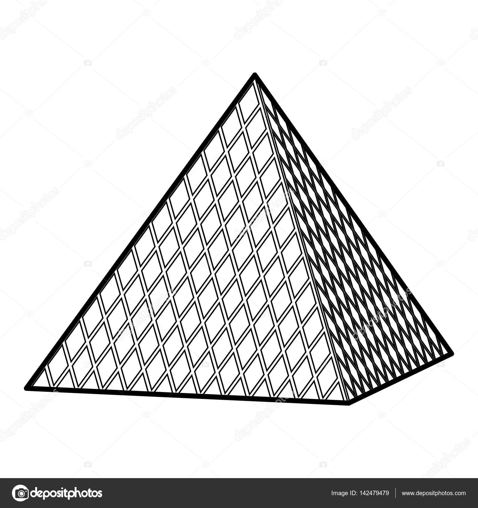 Louvre pyramida ikona styl osnovy stock vektor - Dessin de pyramide ...