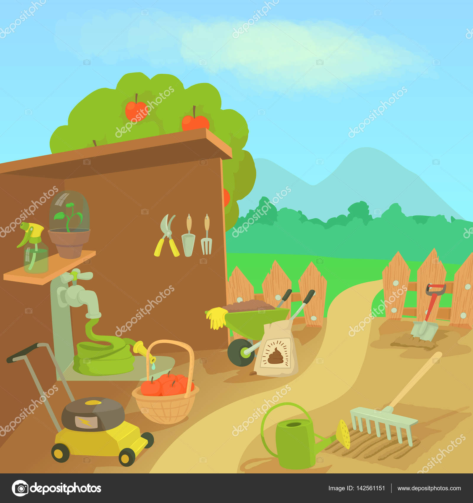 Herramientas de jardiner a paisaje concepto estilo de - Herramientas de jardineria 94 ...