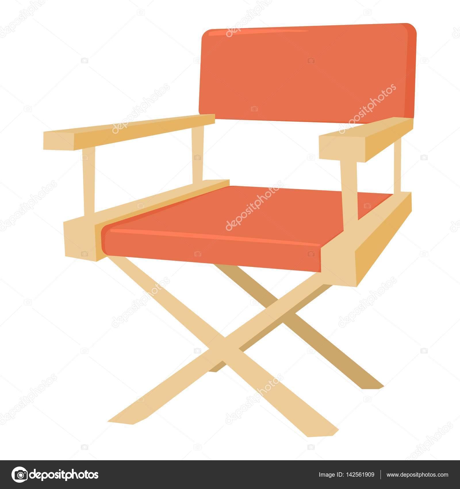 Icono del silla del director de cine estilo de dibujos animados
