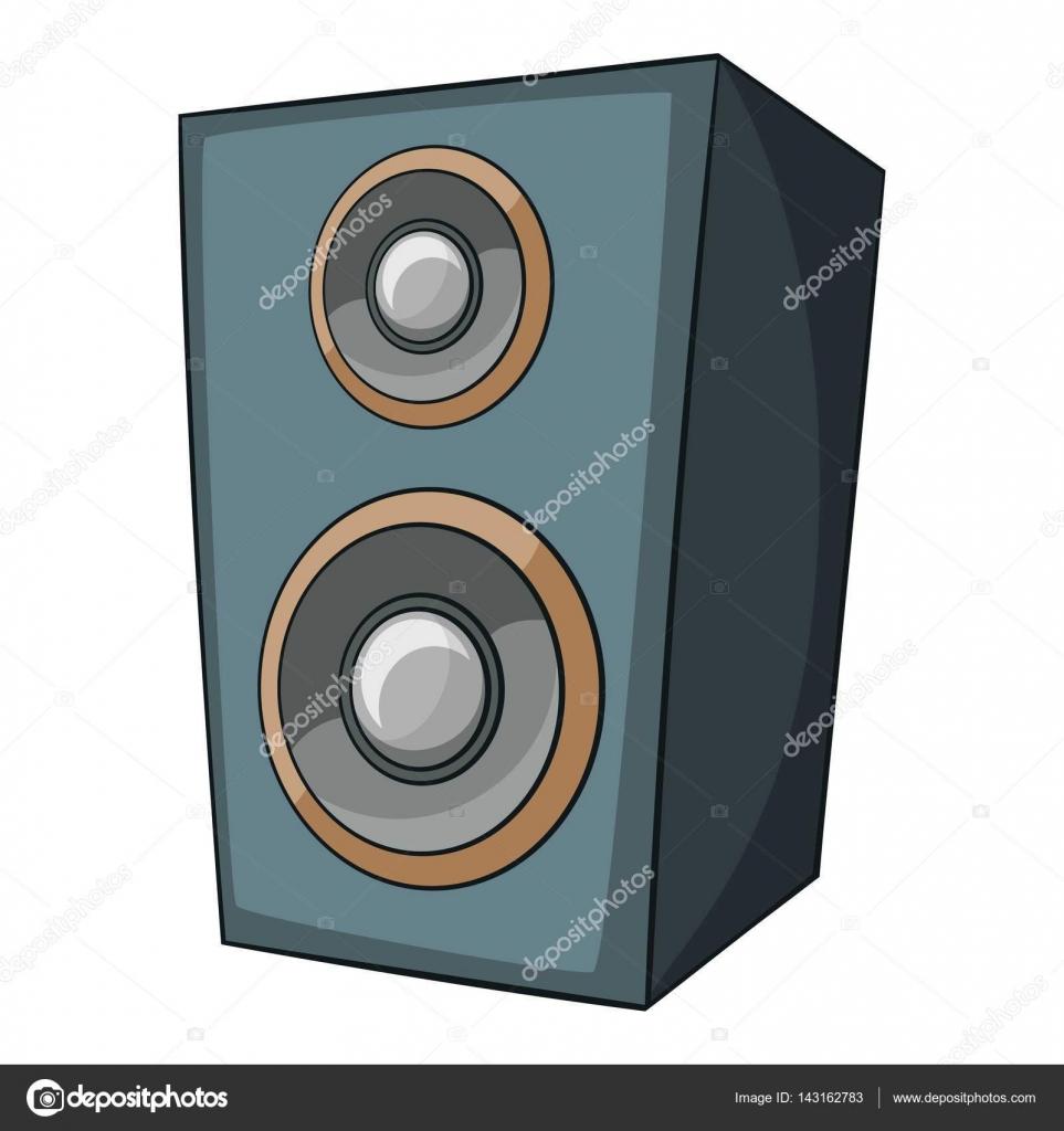 icono de altavoz de m sica estilo de dibujos animados On altavoz de musica