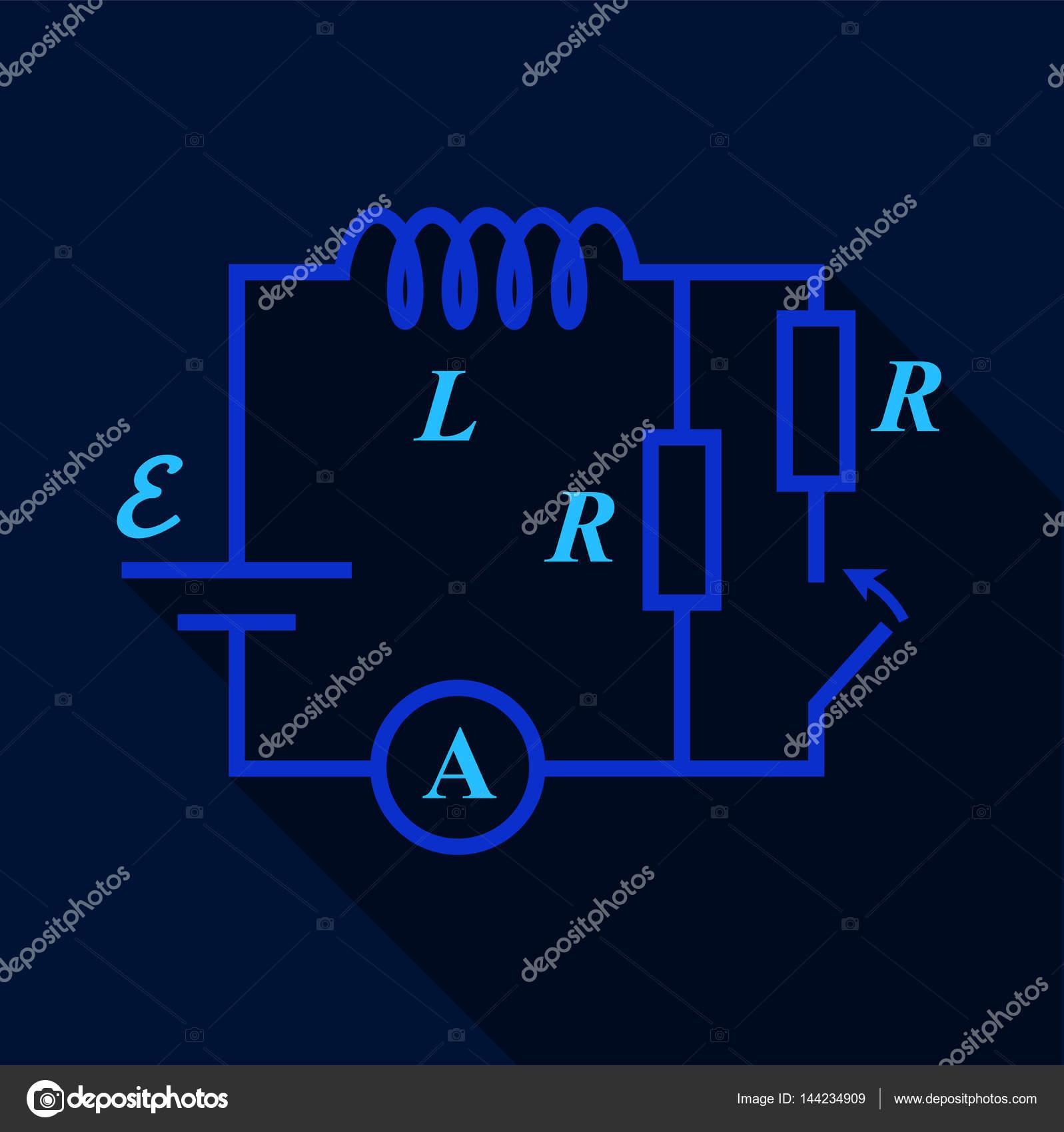 Elektrische Schalter Diagramm Symbol, flachen Stil — Stockvektor ...