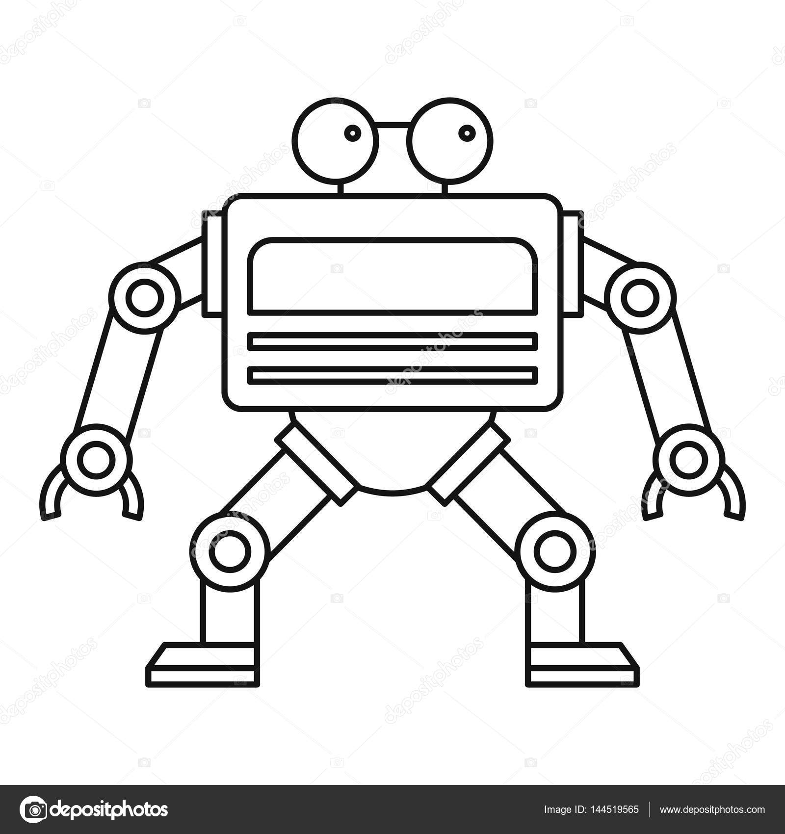 Automation machine robot icon outline style stock for Decor outline