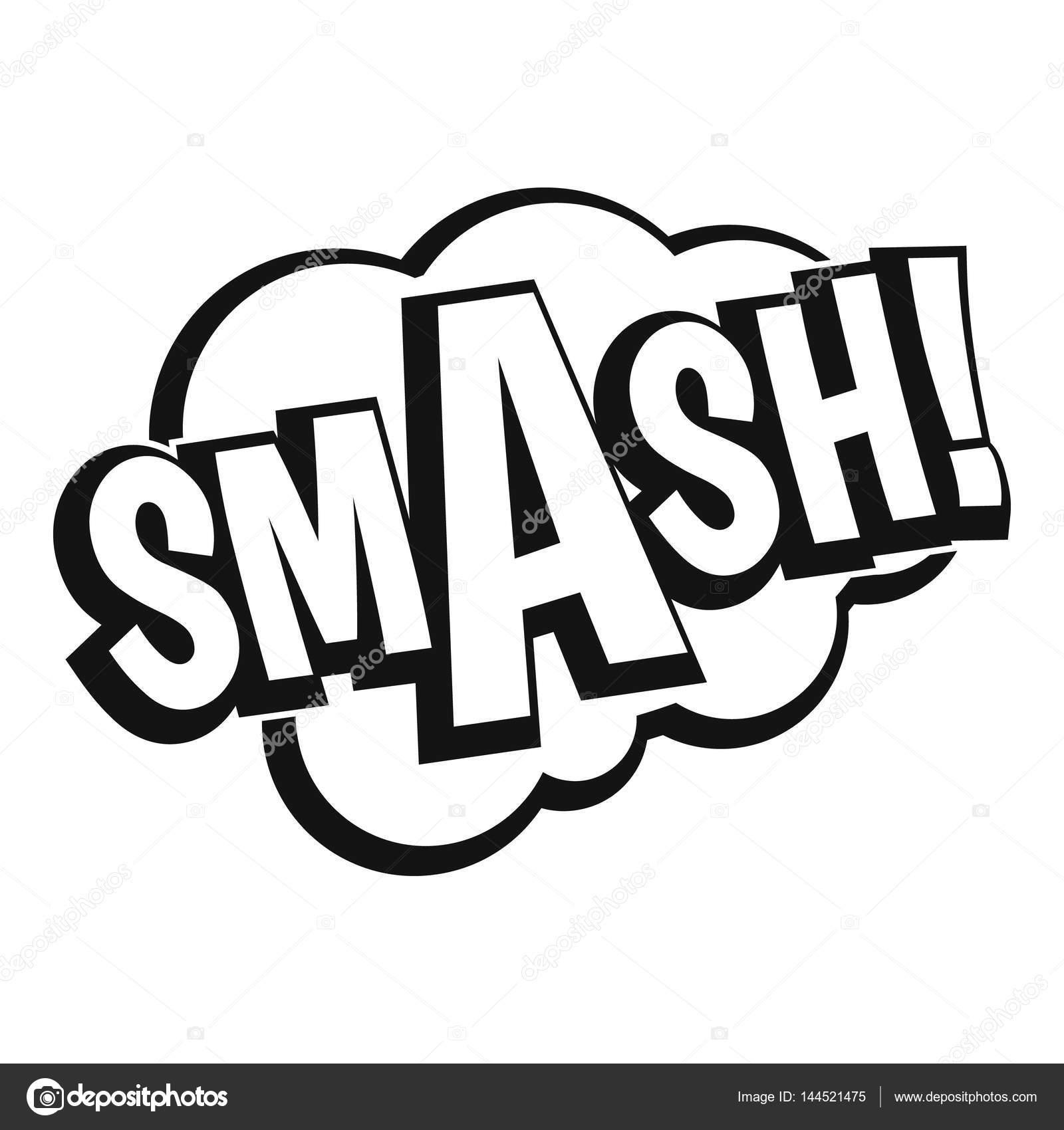 スマッシュ 漫画本バブル テキスト アイコン シンプルなスタイル