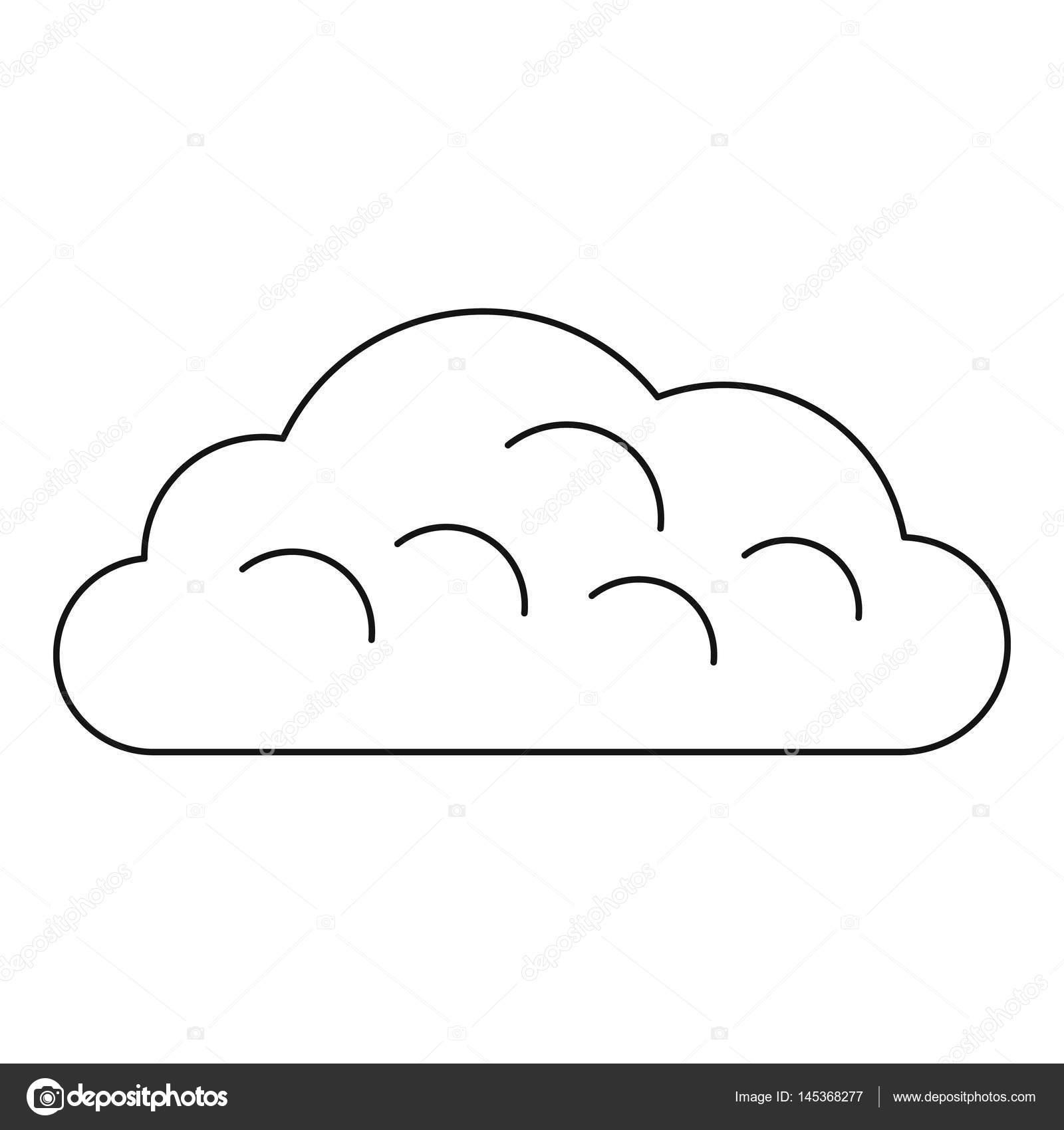 Arrastrar Para Colorear Icono De La Nube De Nieve Estilo De