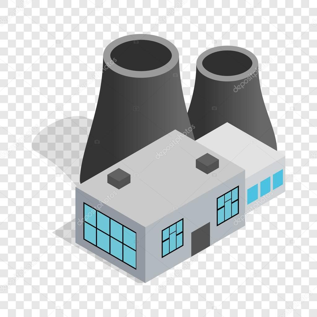 Thermal power station isometric icon