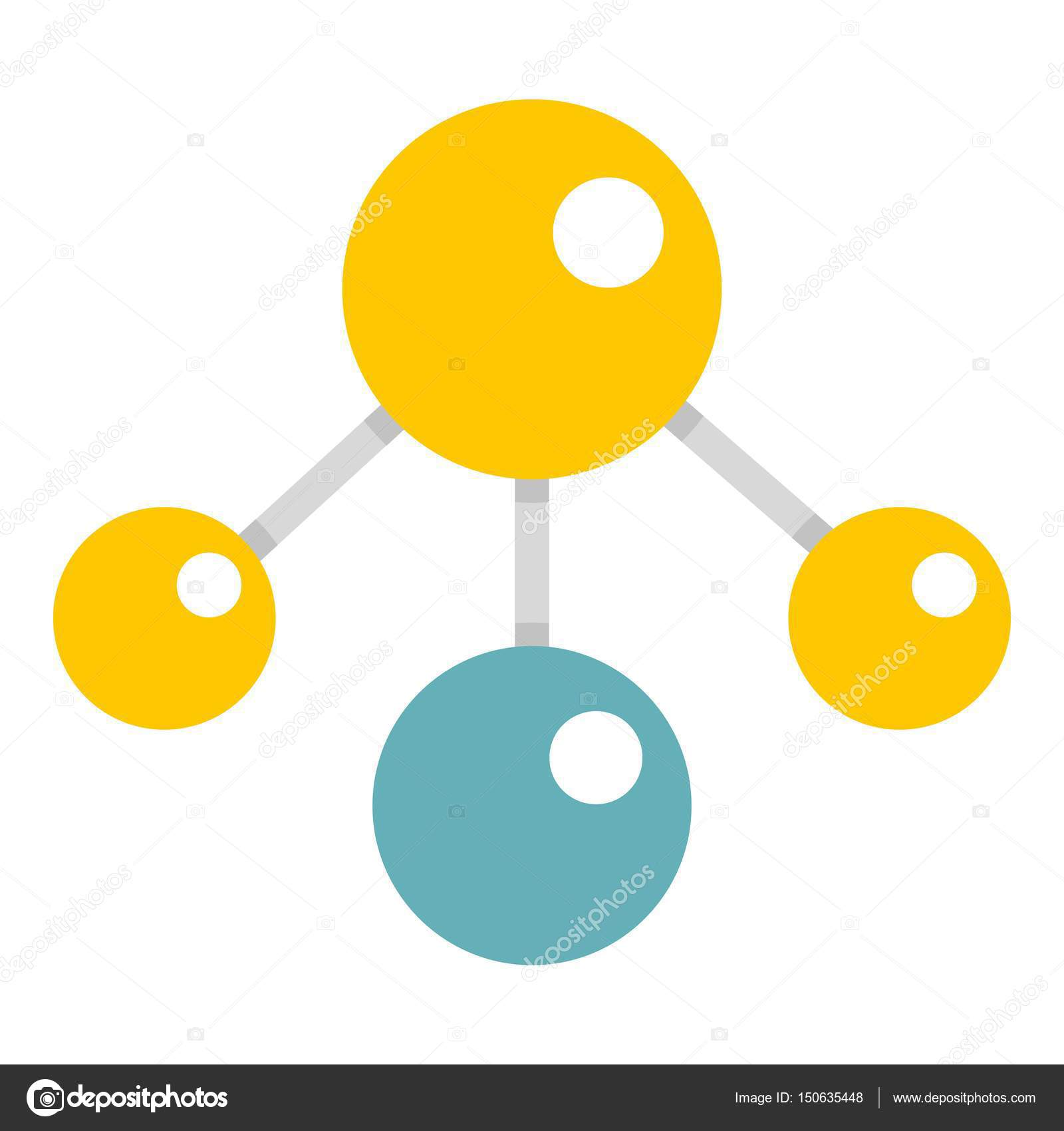 Yelllow and blue atomic structure icon isolated stock vector yelllow and blue atomic structure icon isolated stock vector ccuart Images