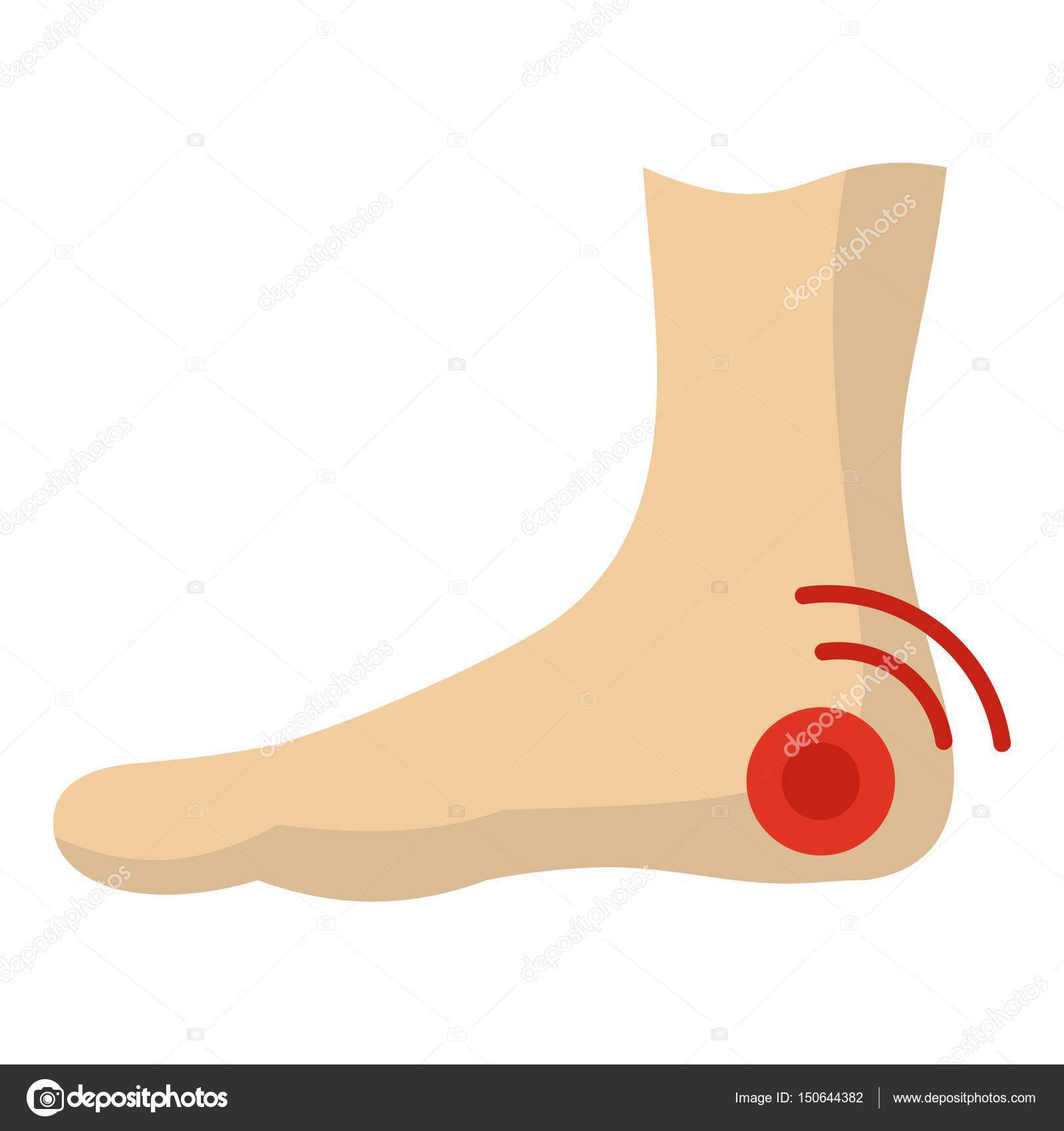 7fe12f30544 Foot heel icon isolated — Stock Vector © ylivdesign #150644382
