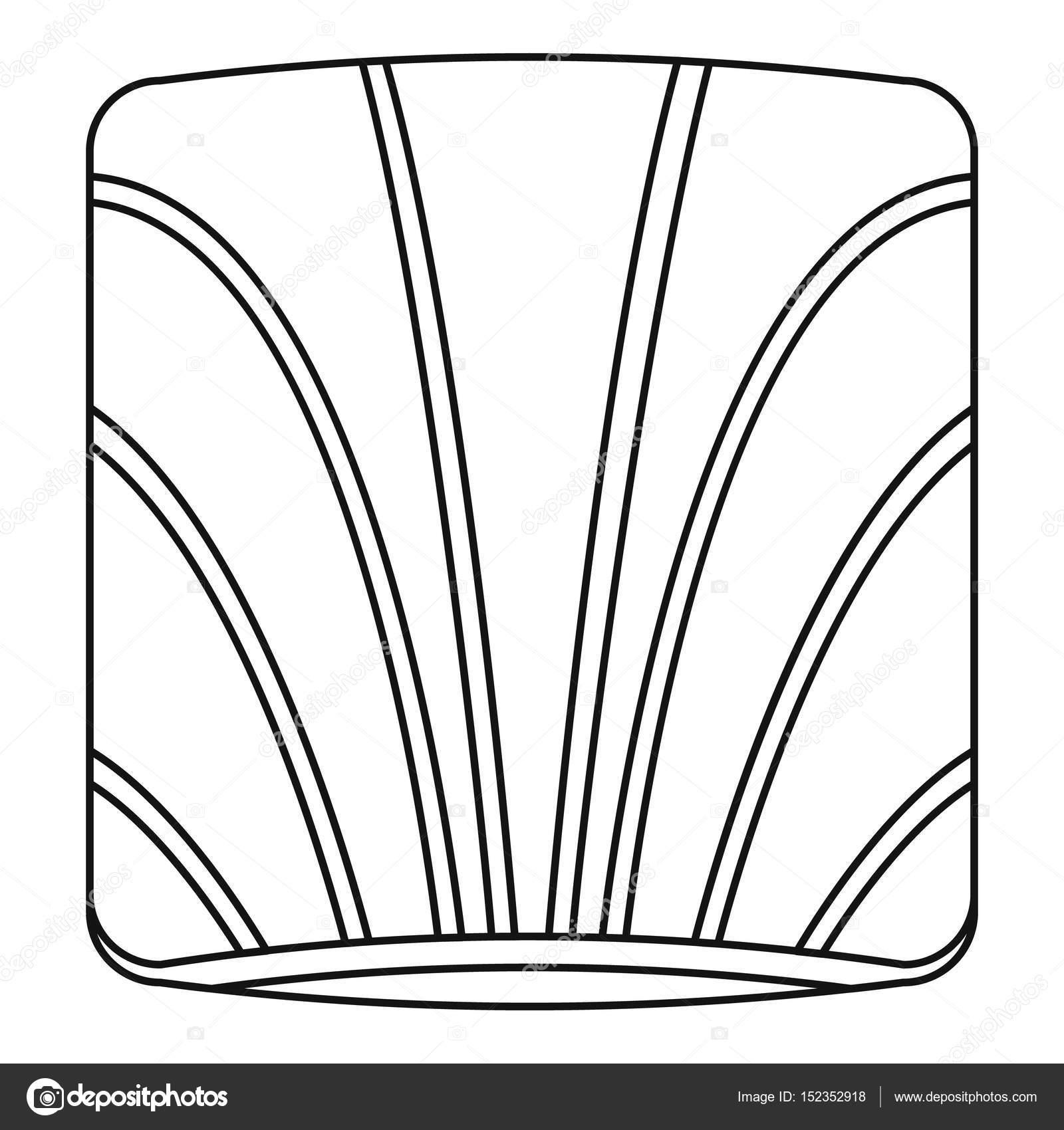 Stück Lachs Symbol Gliederung — Stockvektor © ylivdesign #152352918