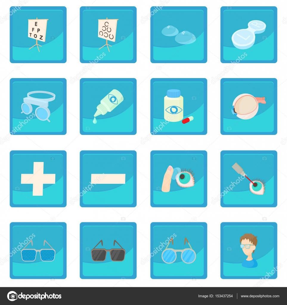 Vision correction icon blue app — Stock Vector © ylivdesign