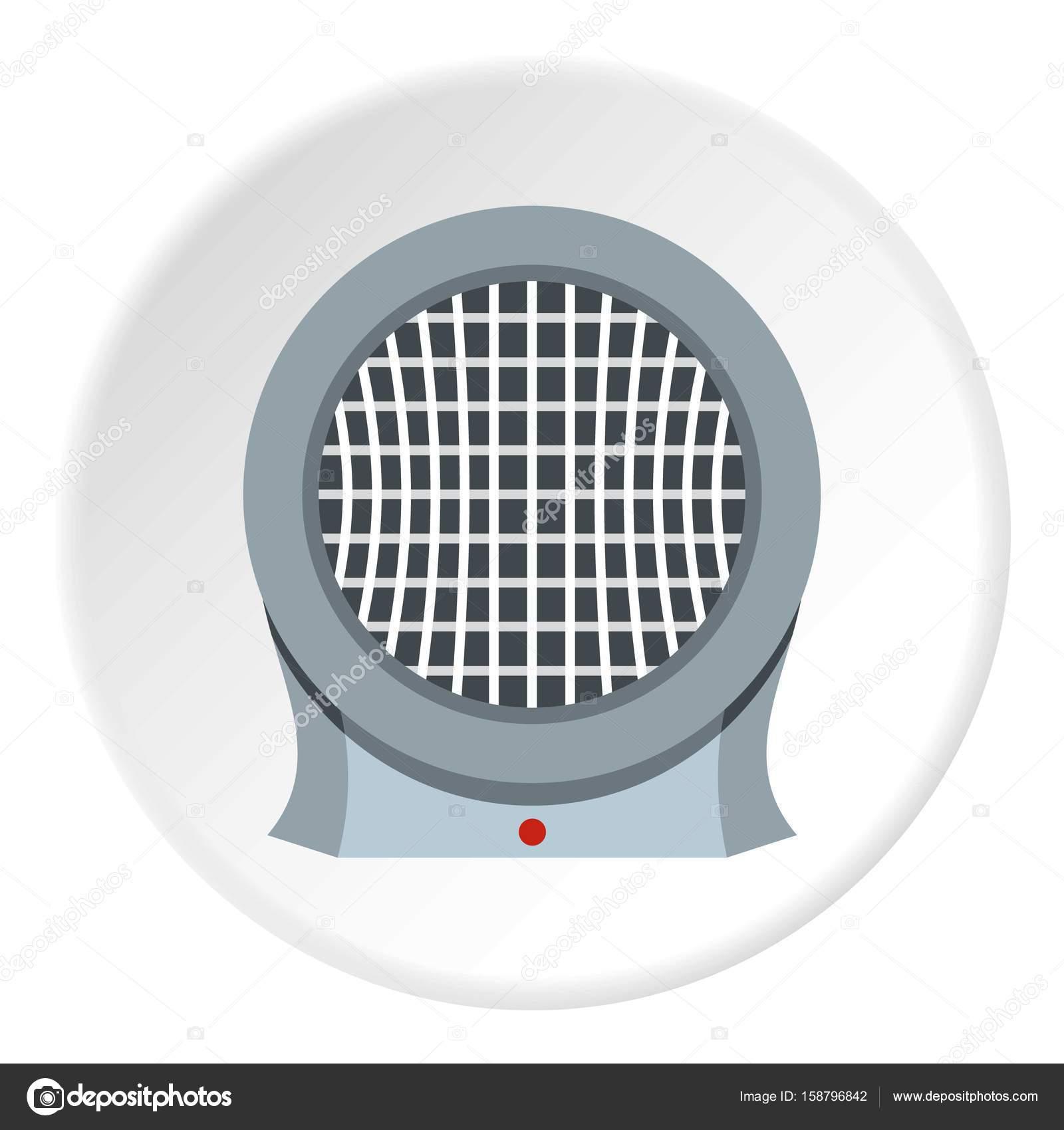 Computer Stromversorgung Ventilator Symbol Kreis — Stockvektor ...