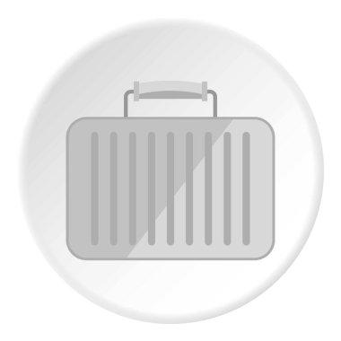 Little woman bag icon circle