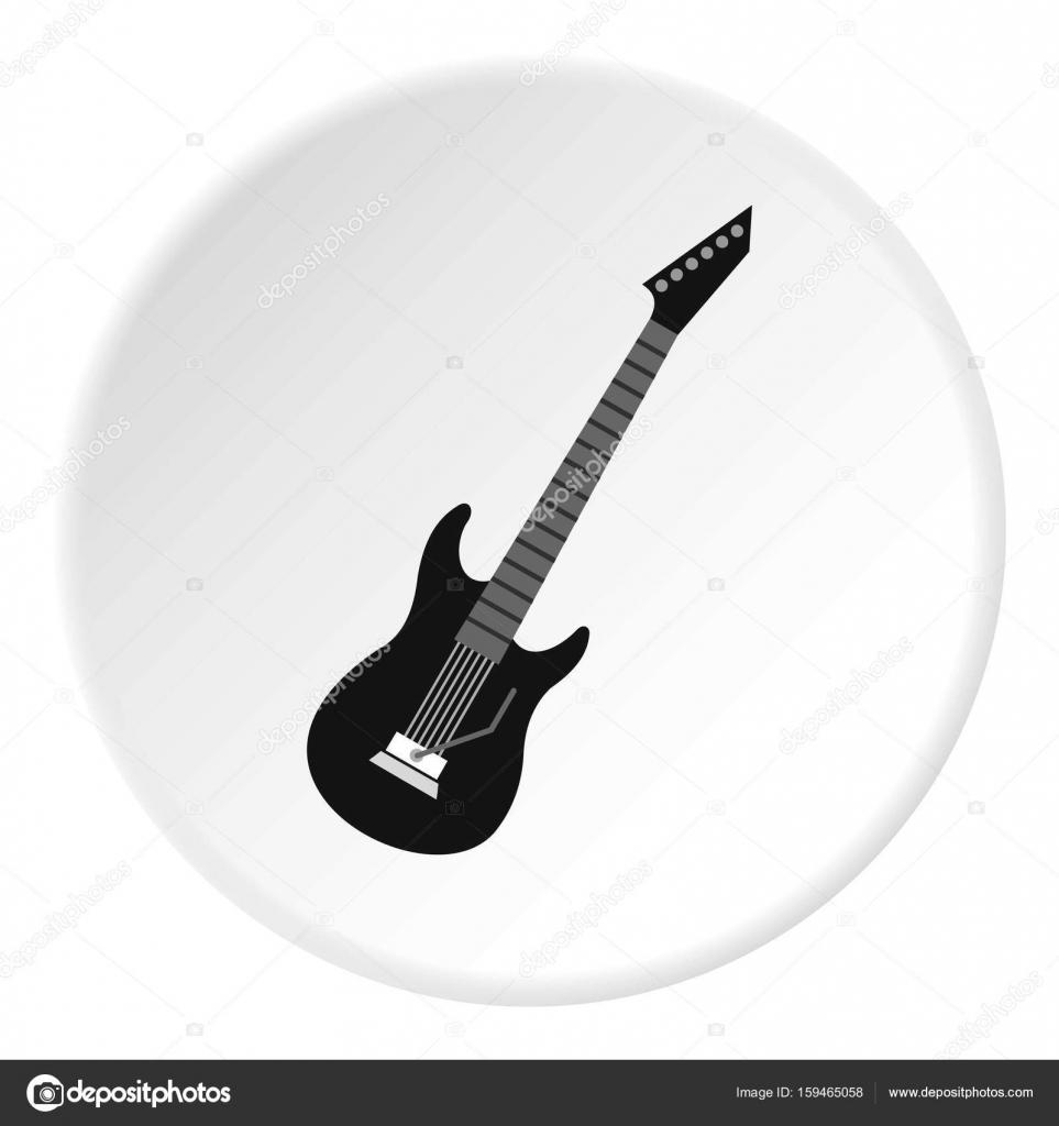Dibujo Guitarra Electrica Para Imprimir Círculo De Icono