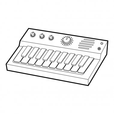Synthesizer icon, outline style