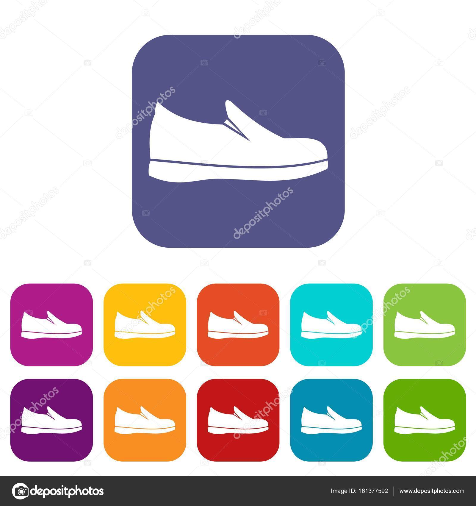 reputable site cd0b6 ca799 Set di icone scarpe — Vettoriali Stock © ylivdesign #161377592
