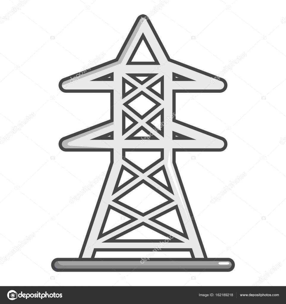 Elektrische Turm Symbol, Cartoon-Stil — Stockvektor © ylivdesign ...