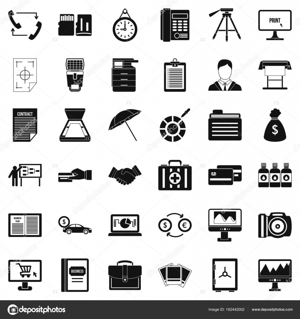 Abteilung Symbole Baukasten, einfachen Stil — Stockvektor ...