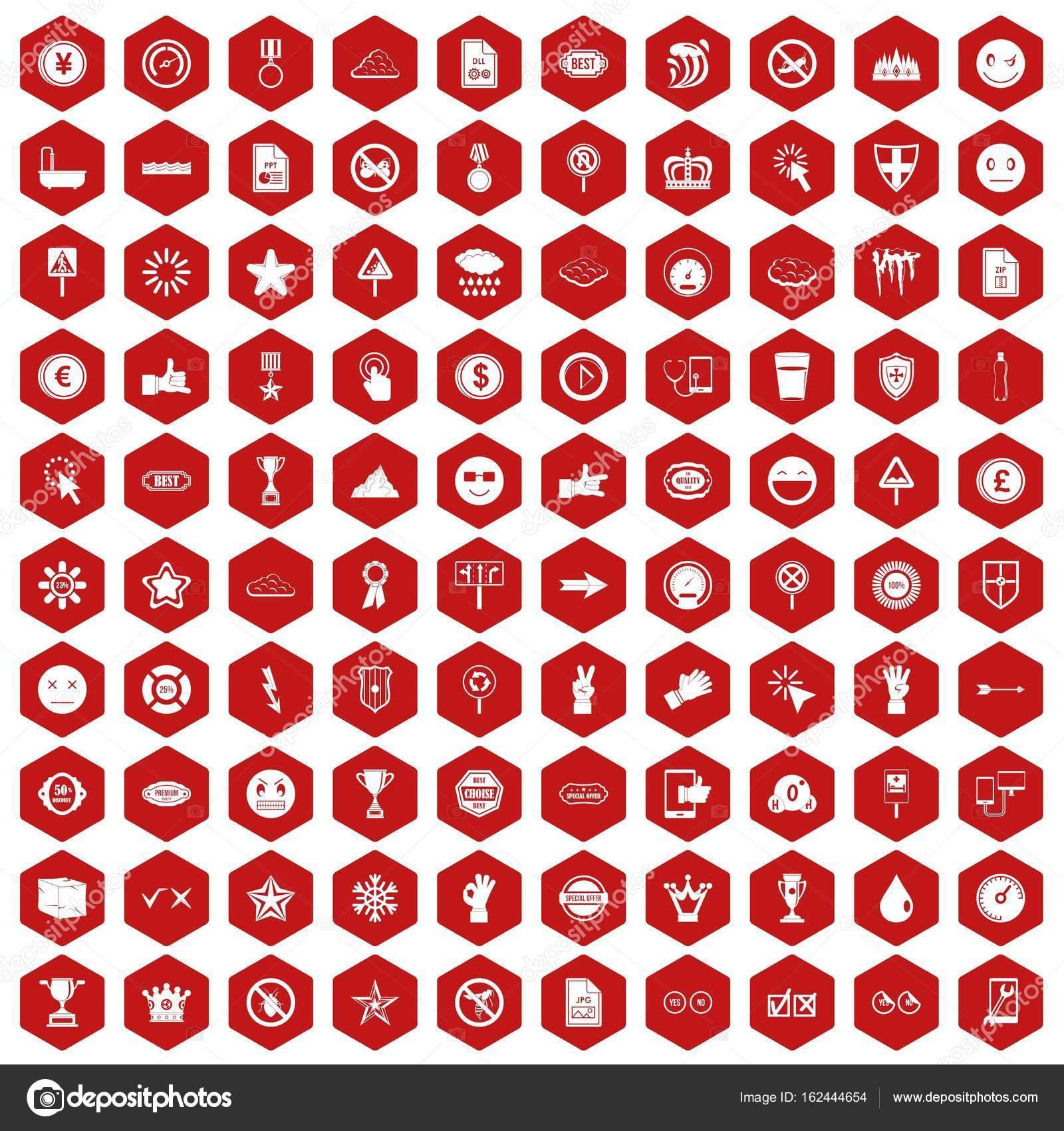 100 symbol icons hexagon red stock vector ylivdesign 162444654 100 symbol icons hexagon red stock vector buycottarizona Image collections