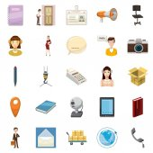 Transportation of money icons set, cartoon style