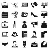 Studio sada ikon, jednoduchý styl